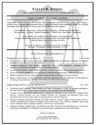 Billing Clerk Resume Amazing Confortable Sample Resumes For Paralegals With A Objective For Your
