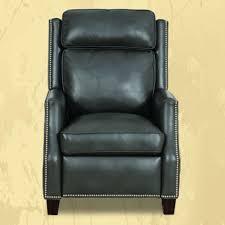 vintage recliner bl leather rocking chair morris