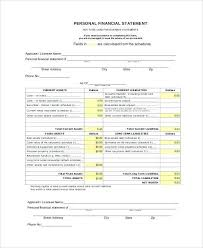 Financial Statement Forms Templates | Colbro.co