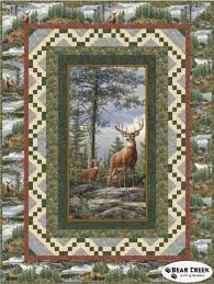 Best 25+ Wildlife quilts ideas on Pinterest | Rustic quilts ... & Deer Mountain Quilt TOP Kit Fabric by Quilting Treasures Adamdwight.com