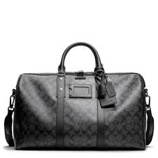Lyst - Coach Bleecker Monogram Duffle In Signature Coated Canvas in ...