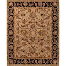 classic oriental beige black wool area rug noir border orient classic