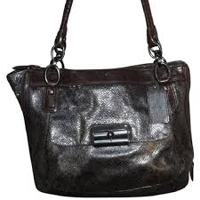NEW Coach Embossed Python Kristin Satchel  18307