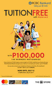 The Sm Stores Win Back Your Tuition Rcbc Bankard