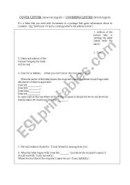 A Cover Letter Begins With English Worksheets Cover Letter