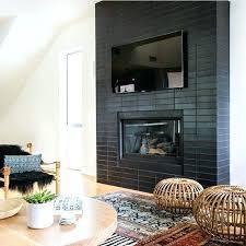 black tile fireplace black subway tile fireplace ideas black glass tile fireplace surround