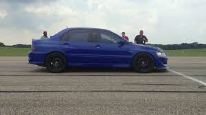 mitsubishi evo 8 modified. modified mitsubishi evo viii running 1399 mph in the michigan mile standing race youtube 8 t