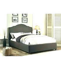 Dark Grey Tufted Queen Bed Velvet Frame King Bedroom Bench White ...