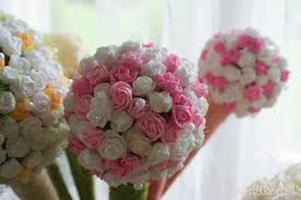 Paper Flower Ball Decorations How to DIY Beautiful Crepe Paper Flower Ball Paper flower ball 1