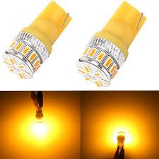 Bright Yellow Led Lights Buy Alla Lighting T10 Wedge Amber Yellow 194 168 2825 175