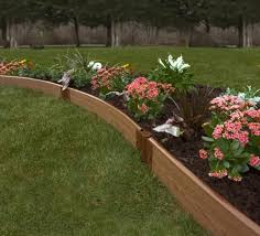 raised garden bed composite wood curves