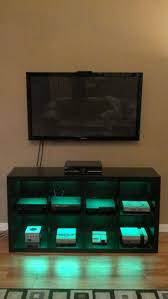 video gaming room furniture. video game console cabinet with led lights via reddit user mcgruff38 gaming and rooms pinterest games consoles room furniture