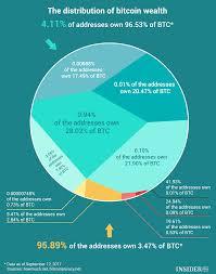 Bitcoin Distribution Chart Chart Of The Day Bitcoin Wealth Distribution Infographics