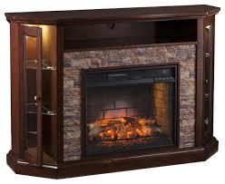 reamrock fireplace media stand espresso