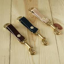 mens leather key fob belt loop holder brass snap hook handmade free calvin klein wallet mens leather key fob accessories fobs