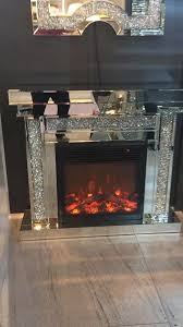 interesting decoration crystal fireplace