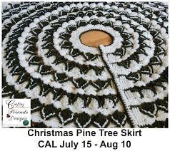 Christmas Tree Skirt Crochet Pattern Best Crafting Friends Designs Christmas Pine Tree Skirt Crochet A