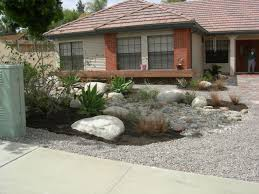 Front Yard Xeriscape Ideas | This is a fabulous rock-scaping front yard  landscaping in
