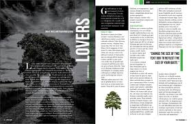 free magazine layout template dark trees magazine layout free indesign template