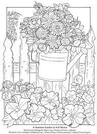 Dover Publications A Printable Flower Garden Pic To Colour