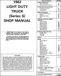 1983 gmc s 15 pickup jimmy repair shop manual original this manual covers all 1983 gmc s 15 pickup trucks and s 15 jimmy vehicles see my other items for the full size k series jimmy manual