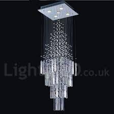 5 lights modern led k9 crystal ceiling pendant light indoor chandeliers home hanging down lighting lamps