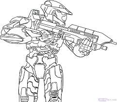 Halo Coloring Pages Video Game Character Coloring Pages Video Game