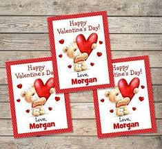 Valentines Day Cards For Boys Amazon Com Kids Valentine Cards Personalized Valentine Cards