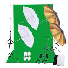professional photography photo lighting kit set with 45w 5500k daylight studio bulbs light stands black white