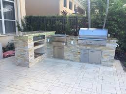 stone patio bar. Custom Outdoor Kitchen And 90 Degree Bar Top Counter. Stone Patio