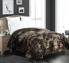 full size of lynx faux fur fullqueen duvet cover set brielle faux fur blanket full queen