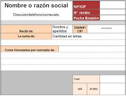 Formato De Recibos Plantilla De Recibo Para Excel Modelo Plantilla