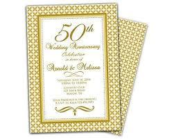 50th Anniversary Party Invitations Amazon Com Gold 50th Wedding Anniversary Party Invitation
