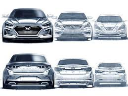 2018 hyundai sonata facelift.  facelift 2018 hyundai sonata facelift official preview sketches throughout hyundai sonata facelift