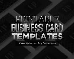 Free Printable Business Templates New Printable Business Card Templates Design Graphic
