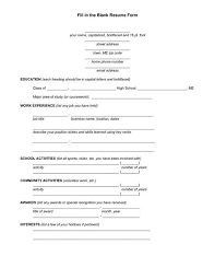 Image Result For Blank Resume Fill Up Form Resume Pinterest Interesting Fill In The Blank Resume