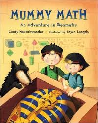 mummy math an adventure in geometry by cindy neuschwander takes readers on an egyptian adventure as main character s matt and bibi journey with their