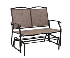 outdoor loveseat bench phi villa patio swing glider bench for 2 persons rocking chair garden outdoor