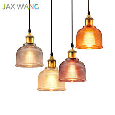 modern simple colorful glass pendant lights kitchen dining bar e27 led hanging lamp dinning bar