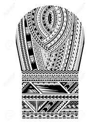 Maori Tribal Art Pattern Good For Shoulder And Sleeve Area Tattoo