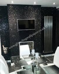 black glam glitter wallpaper