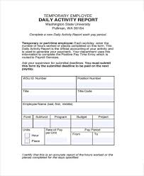 Free 15 Sample Activity Reports In Pdf Word Pages