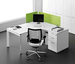 wall mounted white corner desk