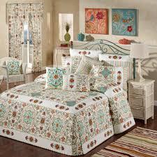 Cote d Azur Bohemian Oversized Quilted Bedspread &  Adamdwight.com