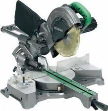 hitachi km12vc. hitachi c8fseb sliding compound mitre saw 216mm + blade 110 volt km12vc