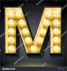 Letter Light Board Realistic Dark Lamp Alphabet Light Board Royalty Free