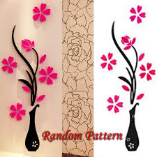 unusual ideas design ebay wall art home decor 3d vase removable flower tree crystal acrylic sticker on large wall art stickers uk with unusual ideas design ebay wall art home decor 3d vase removable