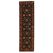 heritage black red 2 ft x 8 ft runner rug