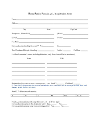 printable registration form template family reunion registration form template family reunion