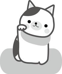 招き猫のイラスト無料イラストフリー素材